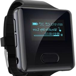 wiwoo Clip On MP3 Player Watch With Bluetooth, 16GB MP3 Play