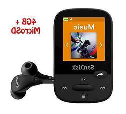 SanDisk Clip Sport 4GB Black MP3 Player+SanDisk MicroSD card