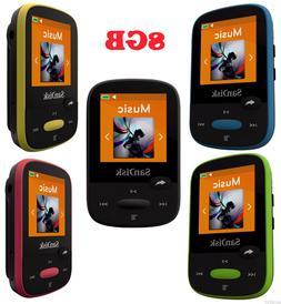 SanDisk Clip Sport Colored 8GB MP3 Player + SanDisk MicroSD