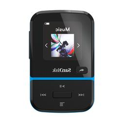 SanDisk Clip Sport Go 32GB Blue MP3 Player LCD screen FM RAD