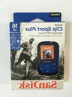 SanDisk - Clip Sport Plus 16GB MP3 Player - Blue