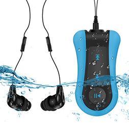 AGPTEK Clip 8GB Waterproof MP3 Player with Waterproof Headph