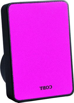 Coby CSBT-318-PNK Pitch Portable Bluetooth Speaker, Pink