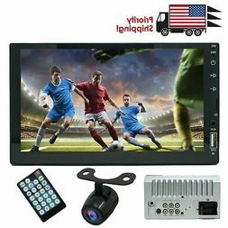 """Double Din 7"""" Bluetooth HD MP5 MP3 Player w/ Touch Screen, U"""