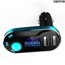 STOD Dual USB Car Charger 2.1A AUX FM Transmitter U Disk <fo