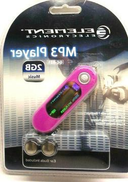 Element Electronics MP3 Player 2GB Memory GC-821 New - Seale