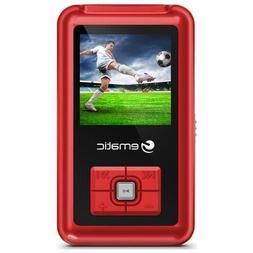 "Ematic Em208vidrd 1.5"" 8GB Flash Portable Media Player, Red"