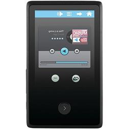 "EMATIC EM318VIDBL 8GB 2.4"" Touchscreen MP3 Video Player with"
