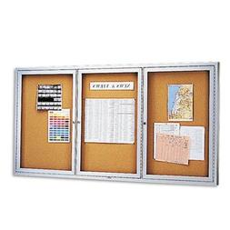 Enclosed Indoor Cork Message Board