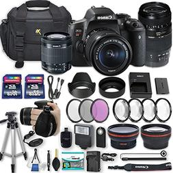 Canon EOS Rebel T6i 24.2 MP DSLR Camera with Canon EF-S 18-5