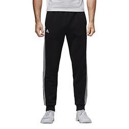 adidas Men's Essentials 3-Stripe Jogger Pants, Black/White,
