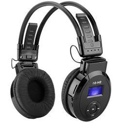 Foldable On-Ear Headphone + MP3 Player Headset + FM Radio +