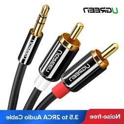 Ugreen <font><b>RCA</b></font> Cable HiFi Stereo 2RCA to 3.5