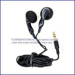Genuine Sandisk Sansa In-Ear Headphones - Black Earbuds Earp