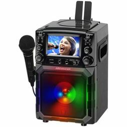 "Karaoke USA GQ450 Portable CD MP3G Karaoke Player 4"" Color T"
