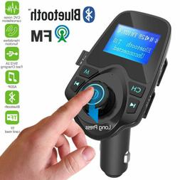 Wireless Bluetooth Handsfree Car Kit FM Transmitter Radio MP