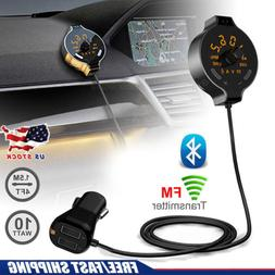 Handsfree Wireless Bluetooth FM Transmitter Car Kit TF MP3 P