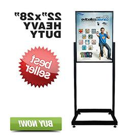 Signworld Heavy Duty Floor Standing Poster Display Stand Sig