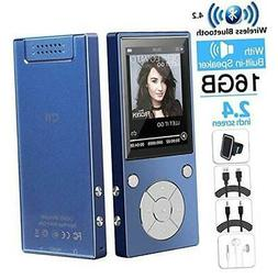 HONGYU Portable 16GB Bluetooth MP3 Player with 2.4 Inch HY-M