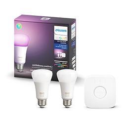 Philips Hue 2-Pack Premium Smart Light Starter Kit, 16 milli