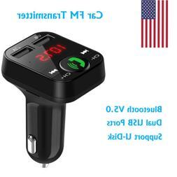 In-Car Bluetooth Wireless MMC MP3 Radio FM Transmitter Dual