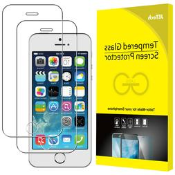 JETech Screen Protector for iPhone SE 5s 5c 5 Tempered Glass