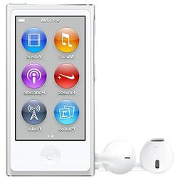 Ipod Nano 16GB 7th Generation MP3 Player - White and Silver