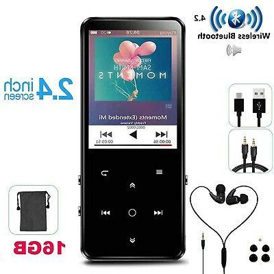 16gb mp3 player with bluetooth touch button