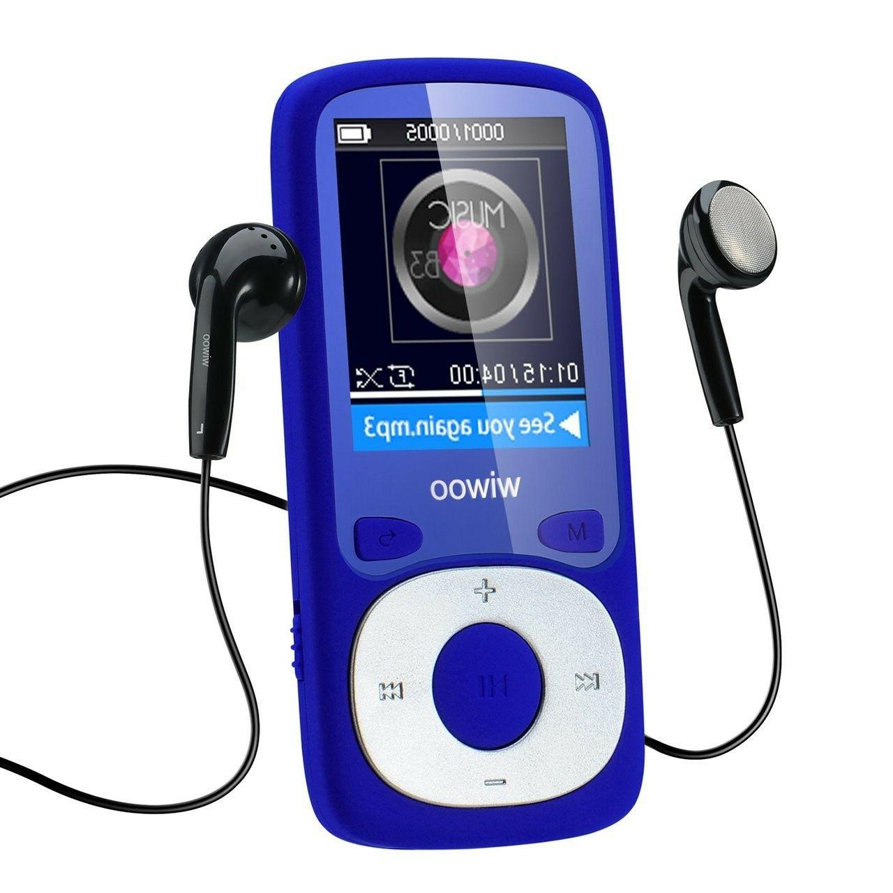 Wiwoo 16GB Portable MP3 MP4 Player With Fm