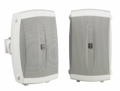 Yamaha 2-Way Indoor/Outdoor Speakers, Pair, White, NS-AW150W