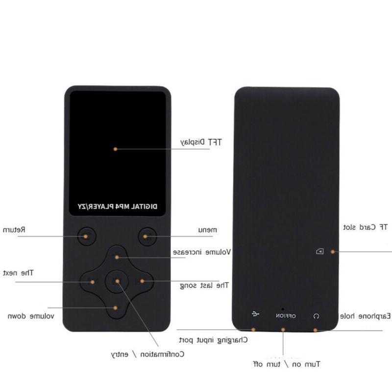 M Portable MP3/MP4 Lossless Music Player FM Recorder Mp3 R