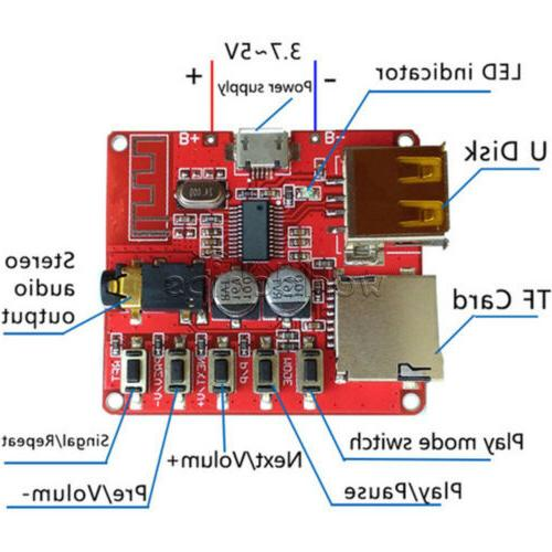 3.7-5V Mini Bluetooth 4.1 MP3 Player Lossless Decoder Board