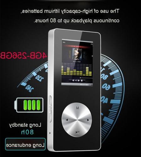 256GB MP3 MP4 Bluetooth Music Player Voice Recorder Pen FM R