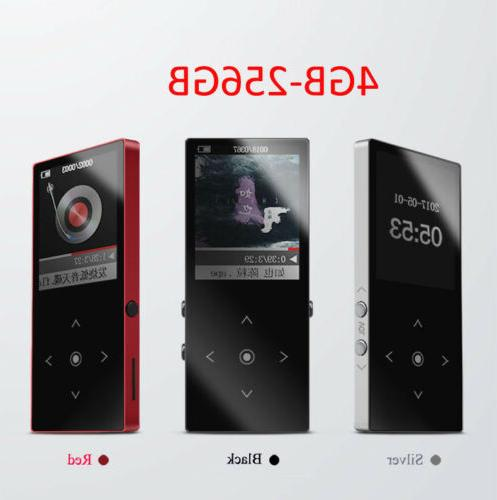4-256GB MP3 Lossess Touch Player TF Card FM Radio Video
