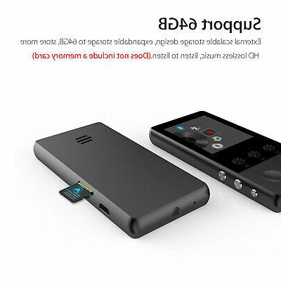 Portable Bluetooth MP3 Music Player FM Lossless up to 64GB