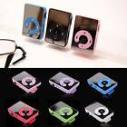 7 Colors Cool  Mirror Clip USB Digital Mp3 Music Player PU T