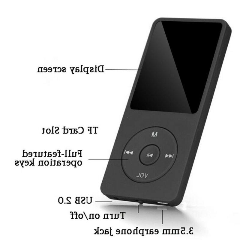 70 Playback MP4 Music Player FM Recorder TF Earphone US