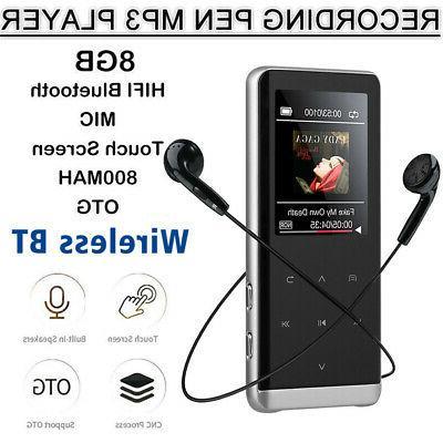 8/32GB Bluetooth MP3 Player MP4 Media Recorder Sport Music Speaker