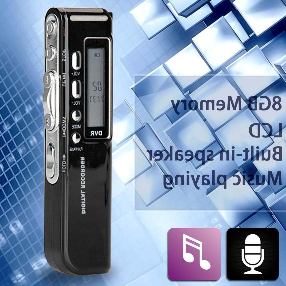 8gb 650hr usb lcd screen digital audio