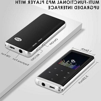 Bluetooth Player Screen with FM 8GB+ Earphone