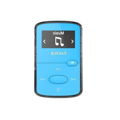 8gb clip jam mp3 player blue portable
