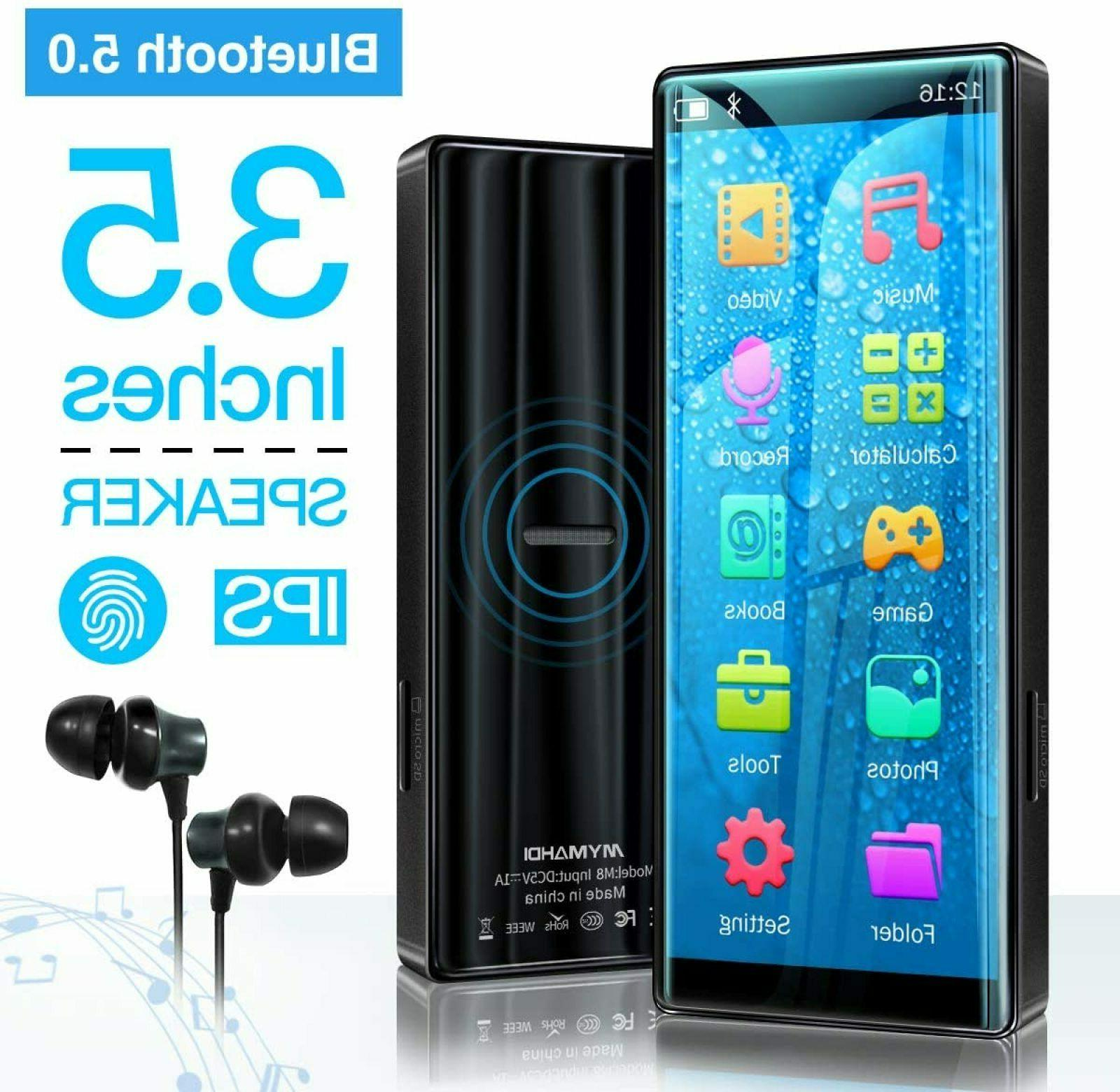 MYMAHDI 8Gb MP3 Player, Bluetooth 5.0, High Resolution & Ful