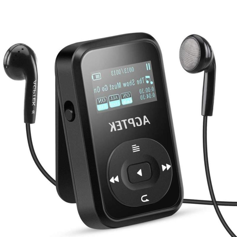 AGPTEK 8GB MP3 Player Clip Sport with Bluetooth 4.0 Lossless