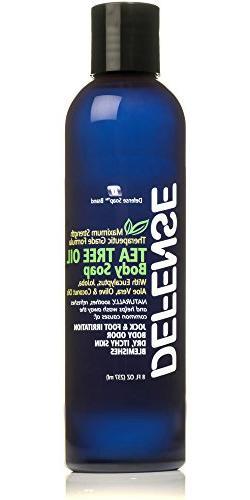 Defense Soap Body Wash Shower Gel 8 Oz - 100% Natural Tea Tr