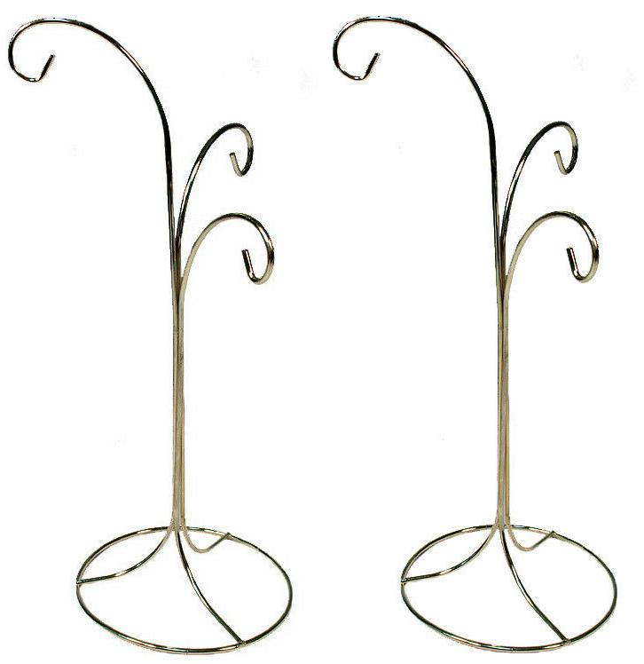 Ornament Display Stand Holder Hanger Has 3 Hooks, 13 inch Ta