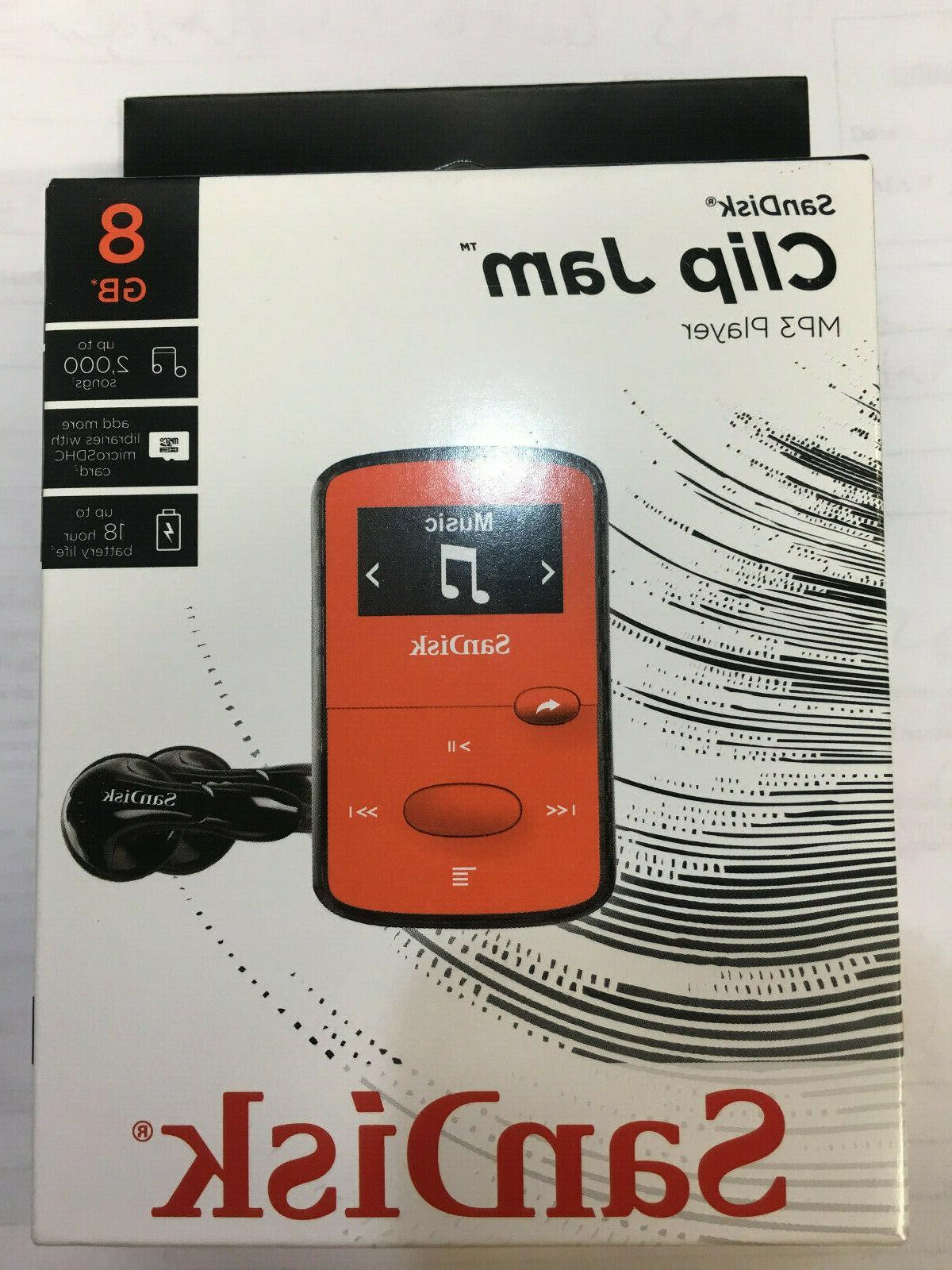 SanDisk - Clip Jam 8GB* MP3 Player - Red & Black