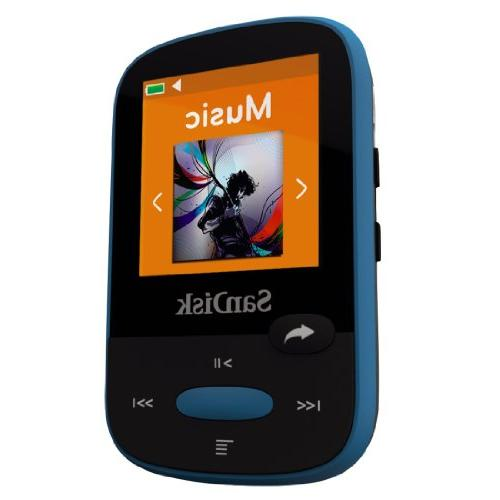 SanDisk MP3 Blue With LCD and MicroSDHC Card Slot- SDMX24-008G-G46B