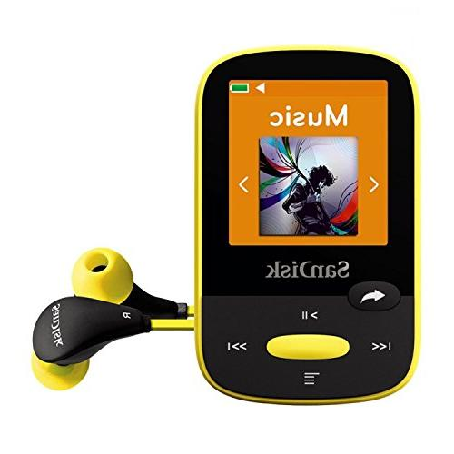 SanDisk MP3 Yellow LCD Screen Card