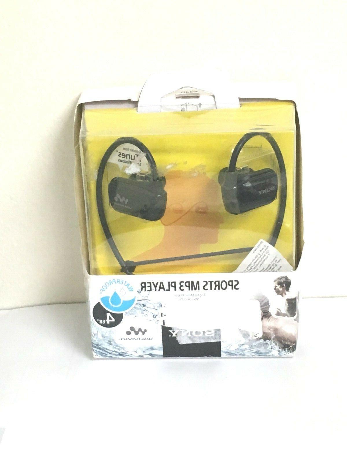 Sony Walkman NWZW273S 4 GB Waterproof Sports MP3 Player  wit