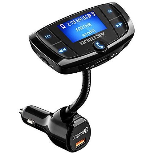 VicTsing QC3.0 Bluetooth FM Transmitter, Car Wireless Radio